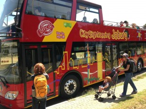 Open Top Red Bus Tour of Joburg