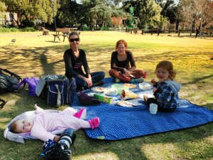 Picnic at the Joburg Zoo on my birthday. 17 July 2013